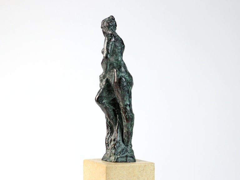 Bather II, Female Nude Bronze Sculpture - Gold Nude Sculpture by Yann Guillon