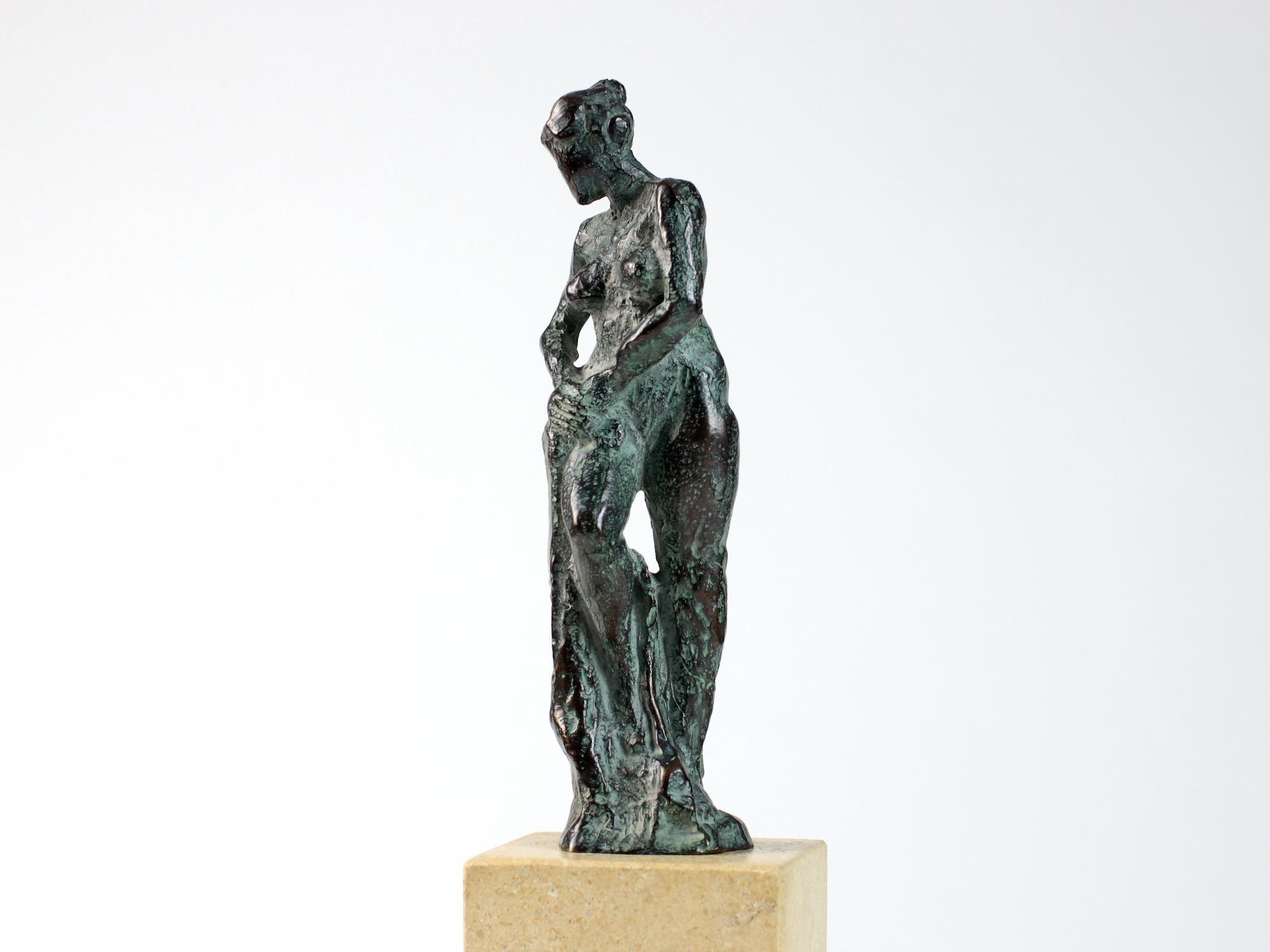 Bather II, Female Nude Bronze Sculpture