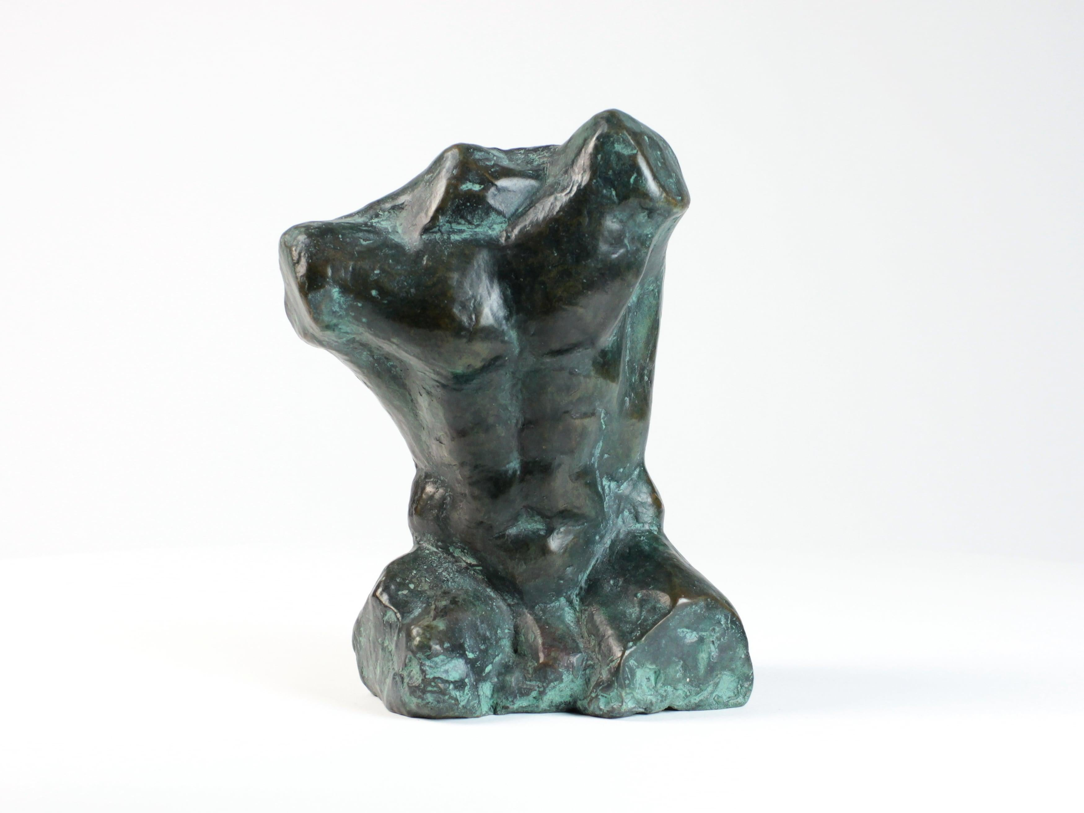 Belenos III by Yann Guillon -  Bronze Sculpture, Nude Male Torso