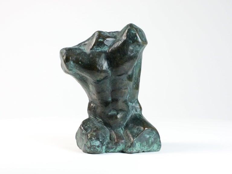 Yann Guillon Nude Sculpture - Belenos III,  Bronze Sculpture, Nude Male Torso