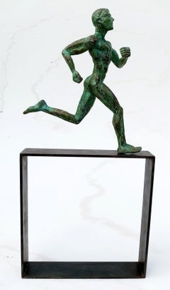 "Coureur ""Marathonien"", Athlete Bronze Sculpture"