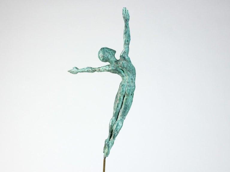 Danseur Attirance II, Male Dancer Bronze Sculpture For Sale 1