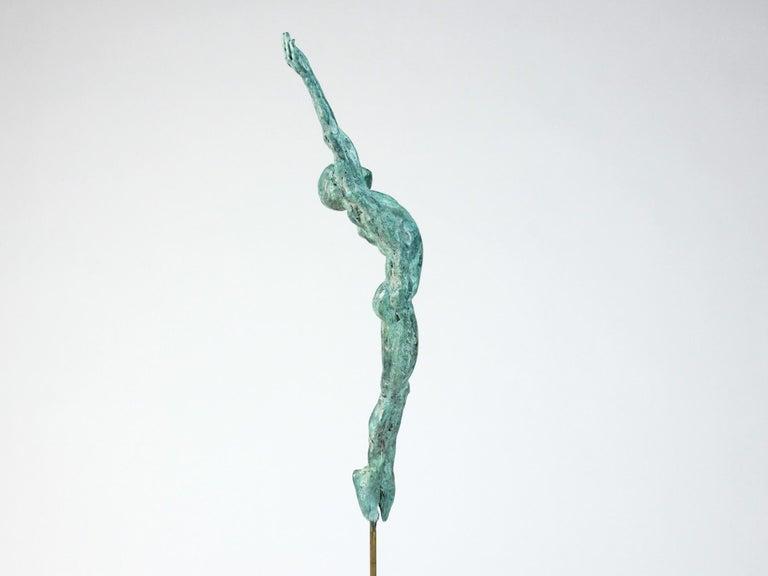 Danseur Attirance II, Male Dancer Bronze Sculpture For Sale 2