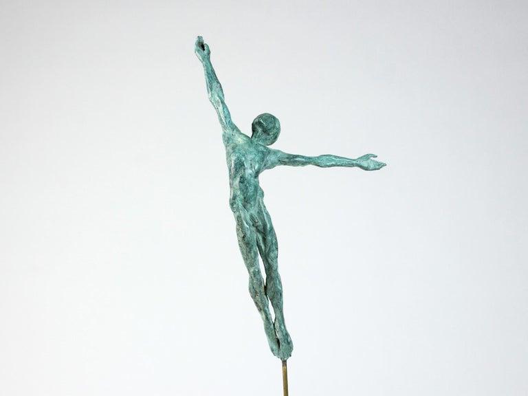 Yann Guillon Nude Sculpture - Danseur Attirance II, Male Dancer Bronze Sculpture