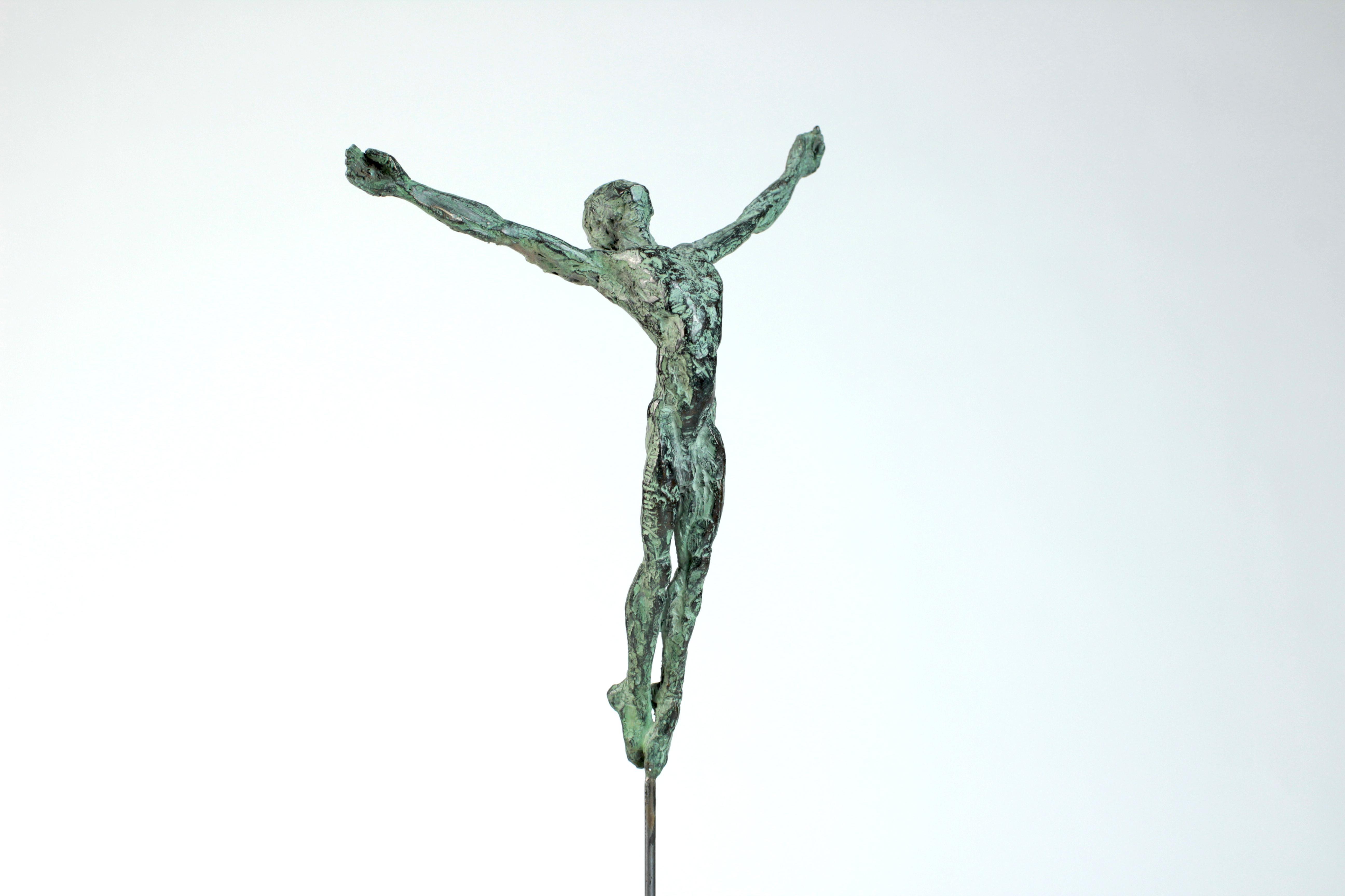 "Danseur ""Envol"" II, Dancer Bronze Sculpture"