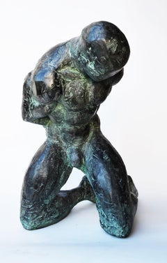 Grand esclave (Large Slave), Male Nude Bronze Sculpture