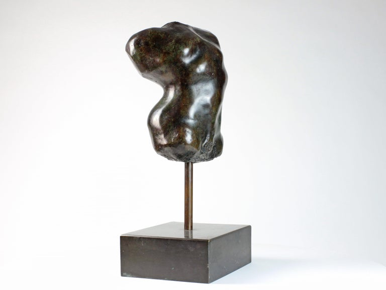 Hermaphrodite I,  Bronze Sculpture, Nude Torso - Gold Nude Sculpture by Yann Guillon
