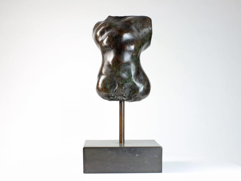 Hermaphrodite I is a bronze sculpture by French contemporary artist Yann Guillon. Yann Guillon focuses his work on the human body, using an expressionist approach to convey alternately strength or sensuality. He often brings to life segments of
