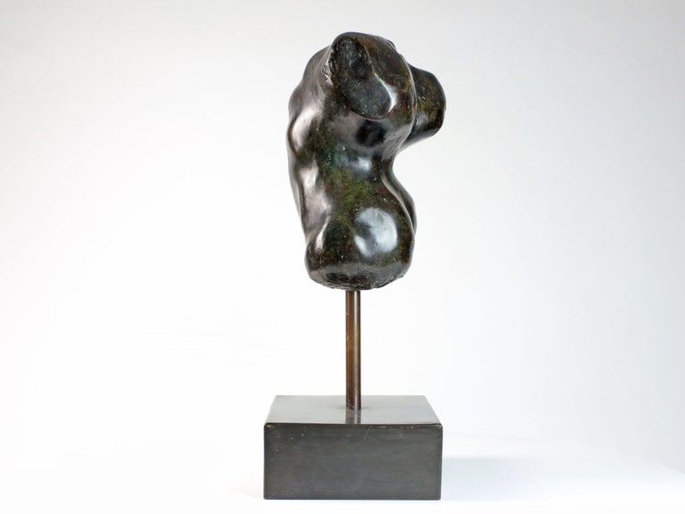 Hermaphrodite I,  Bronze Sculpture, Nude Torso For Sale 2