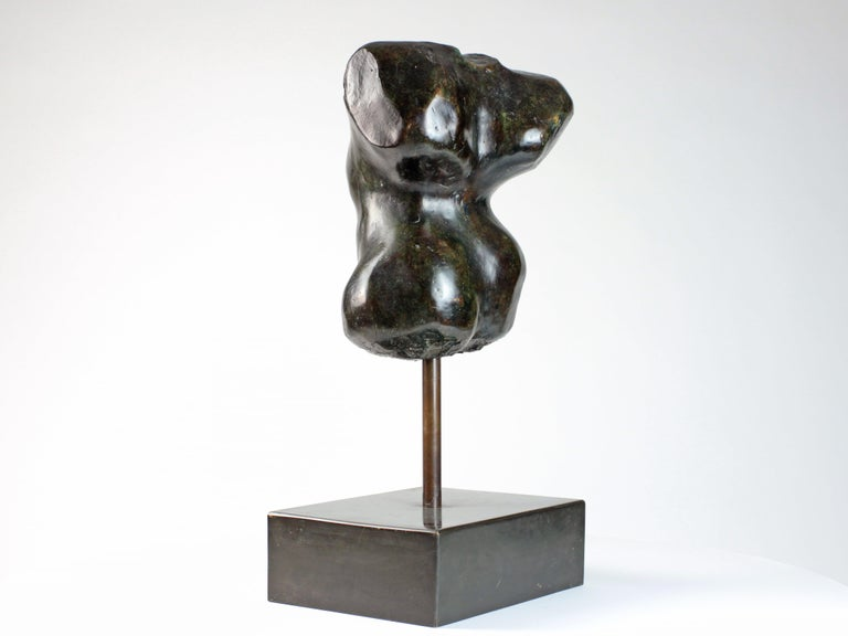 Hermaphrodite I,  Bronze Sculpture, Nude Torso For Sale 3