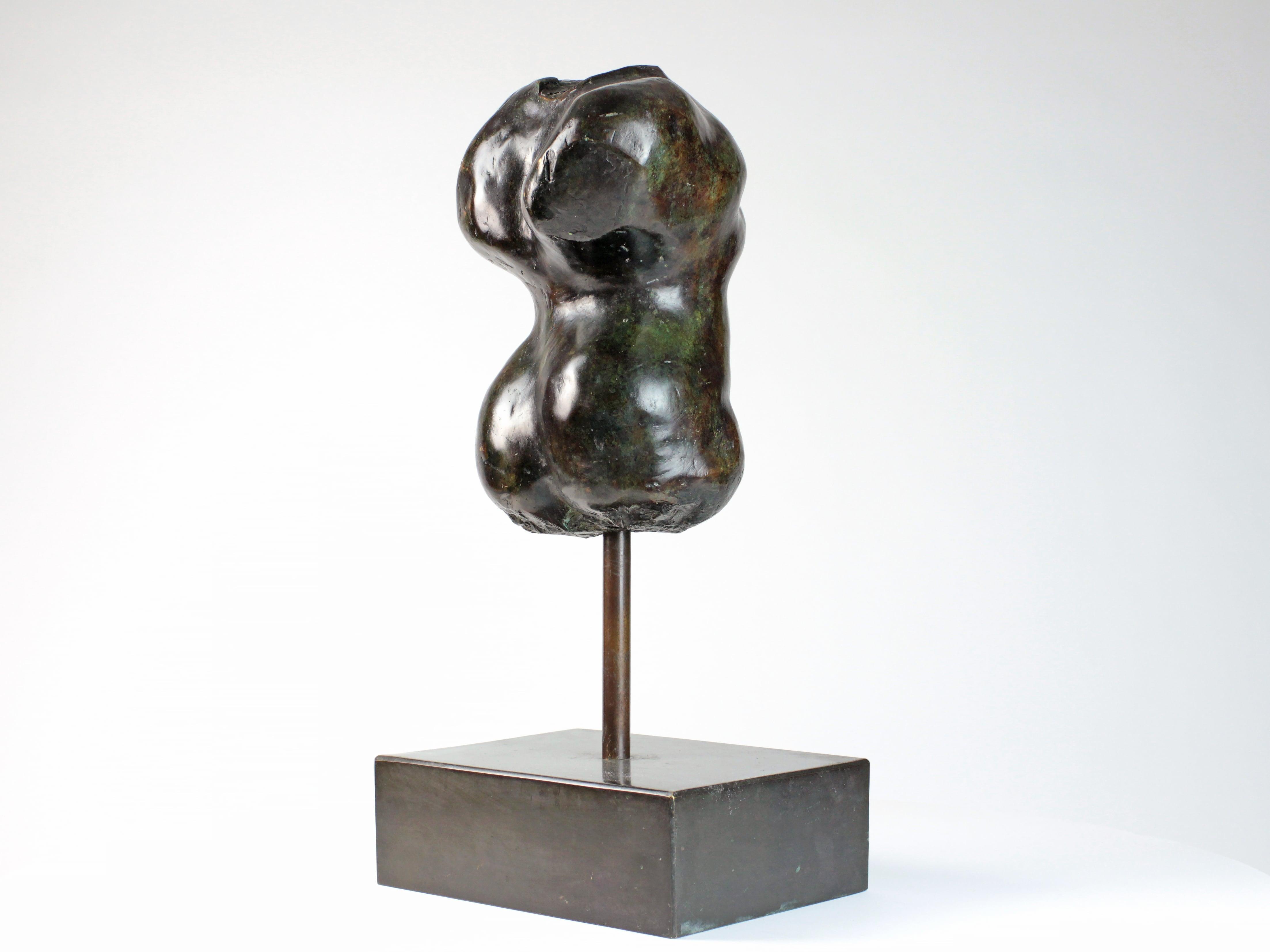 Hermaphrodite I by Yann Guillon - Bronze Sculpture, Nude Torso