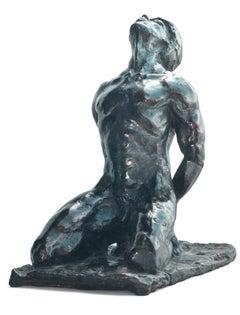 Inner Energy,  Bronze Sculpture, Nude Male Figure