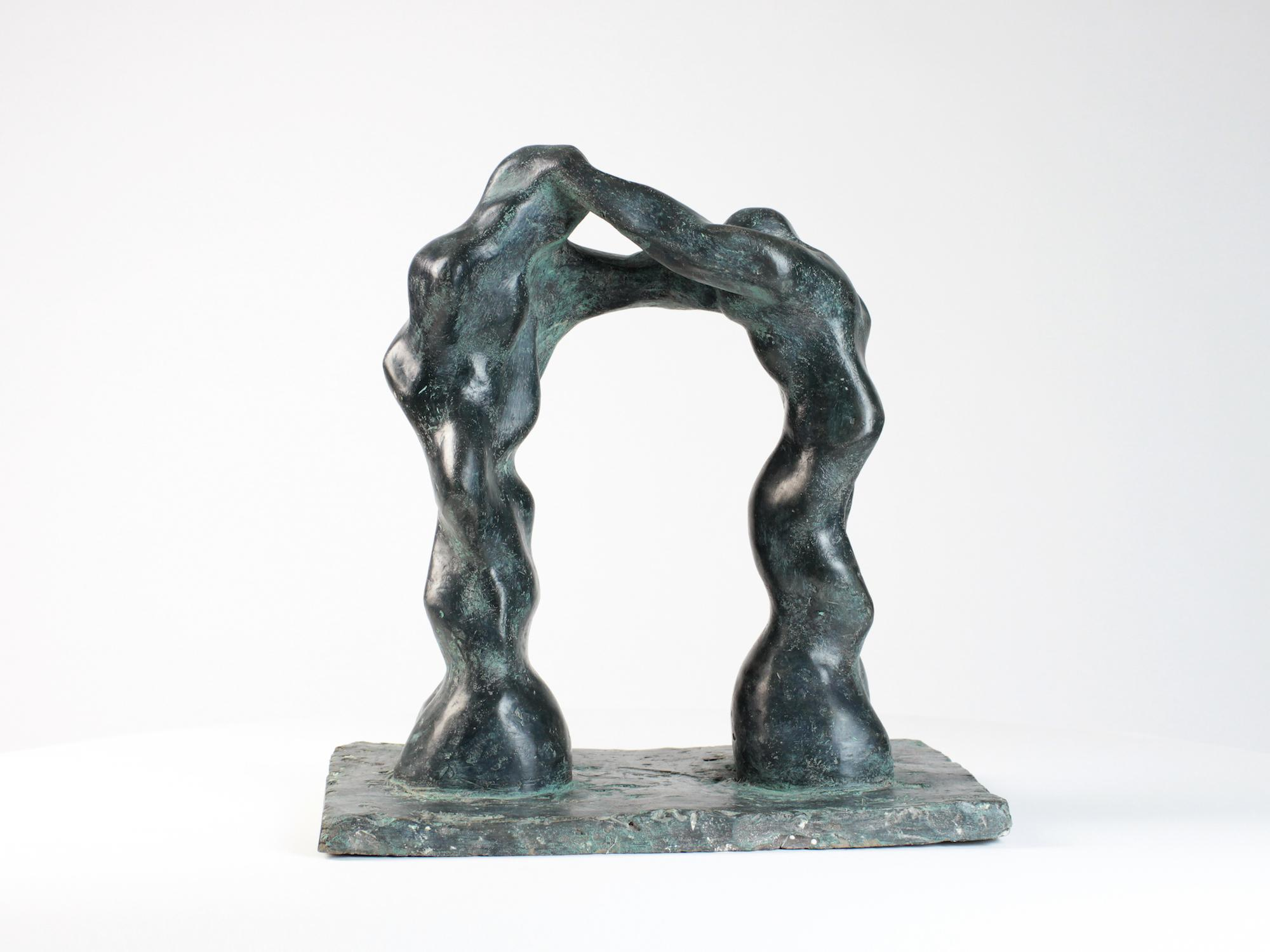 Large Arch, Semi-Abstract Bronze Sculpture