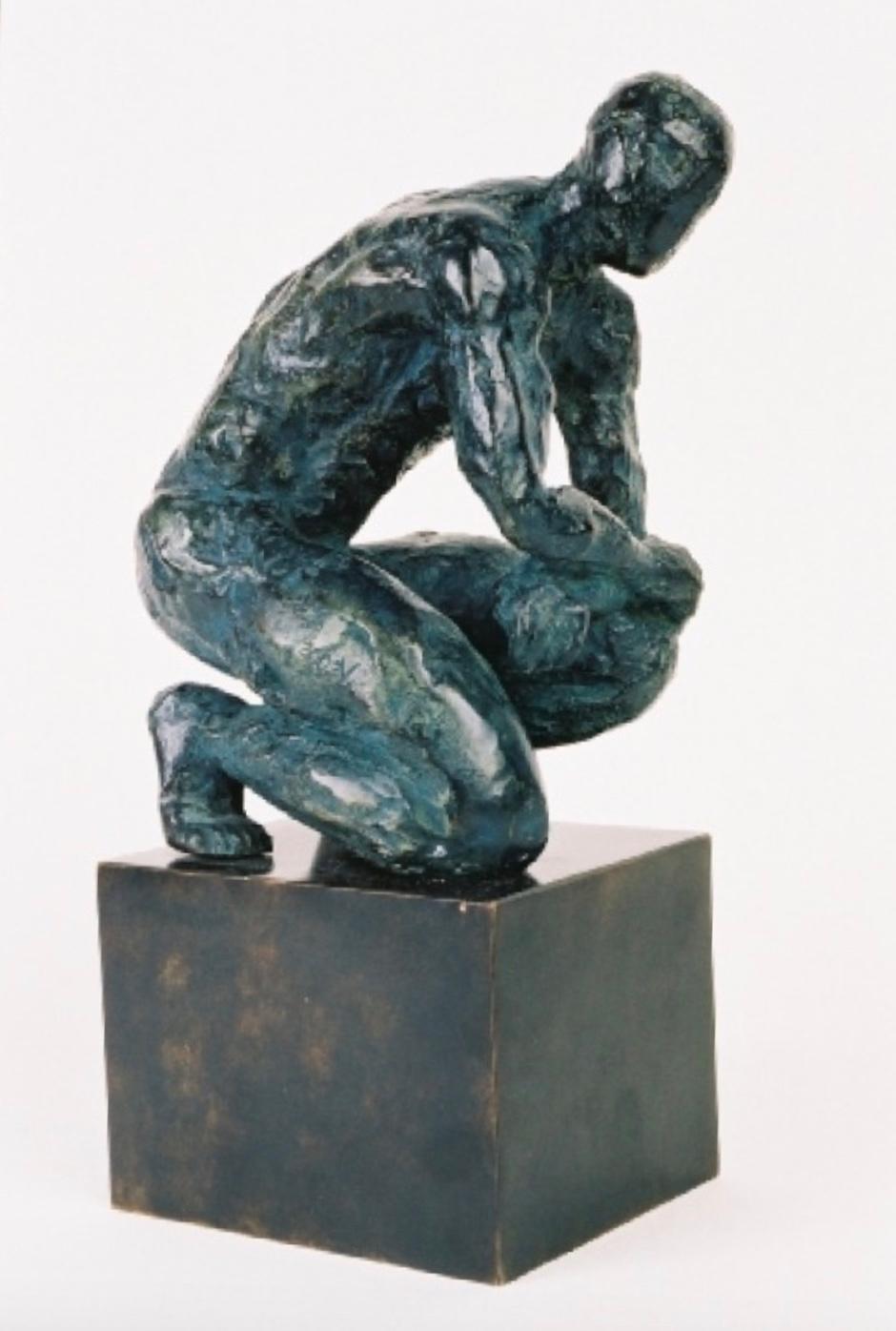 Ludo,  Bronze Sculpture, Nude Male Figure