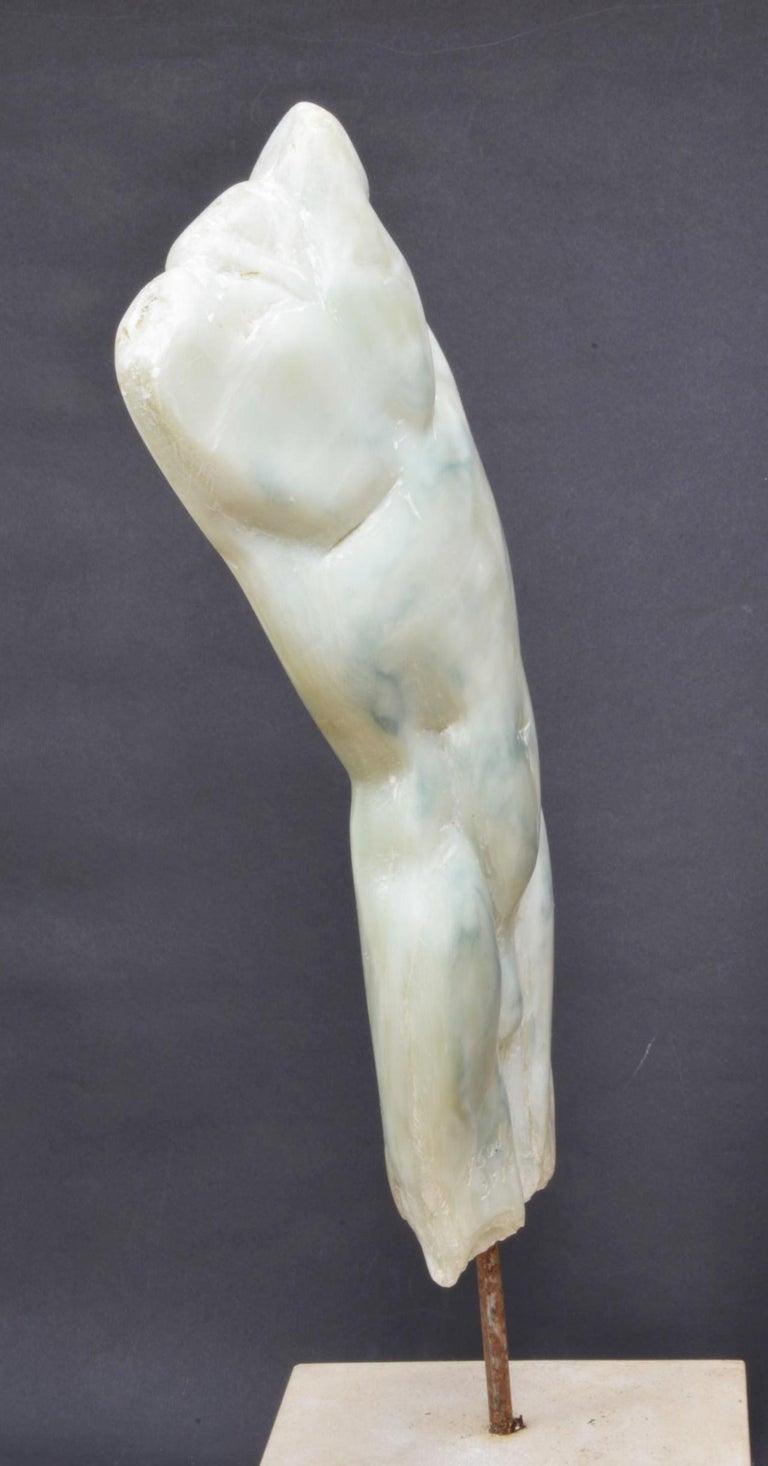Man's Torso II, Contemporary Stone Sculpture - Black Figurative Sculpture by Yann Guillon