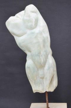 Man's Torso II, Contemporary Stone Sculpture