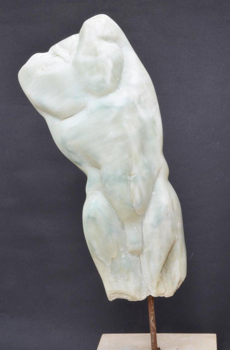 Yann Guillon Figurative Sculpture - Man's Torso II, Contemporary Stone Sculpture