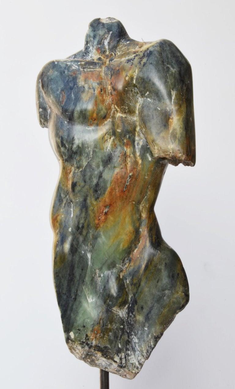 Yann Guillon Figurative Sculpture - Man's Torso III, Contemporary Stone Sculpture