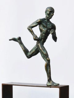 Marathon Runner, Male Nude Bronze Sculpture
