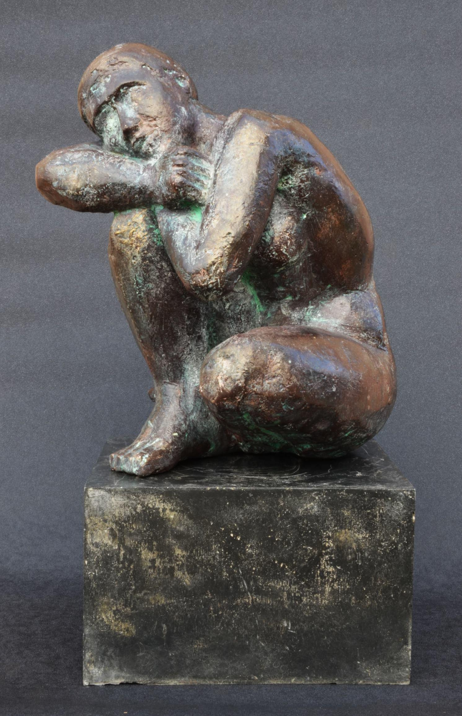 Thought by Yann Guillon - Contemporary Bronze Female Figure