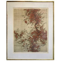 Yannick Ballif Large Limited Edition Modern Abstract Aquatint Etching Print