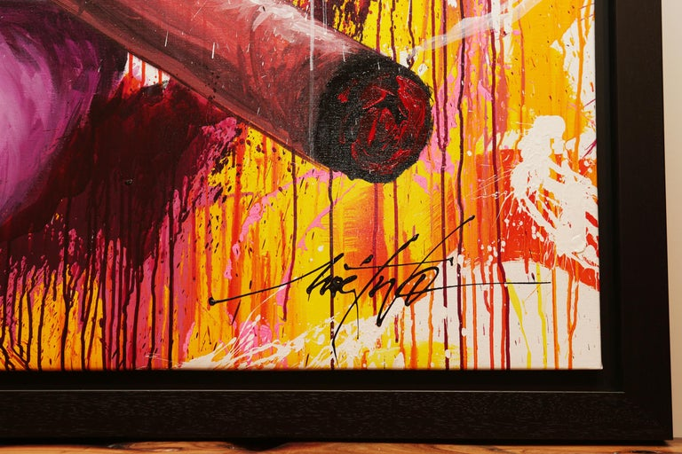 Yaounde Smoke a Cigar Painting For Sale 5
