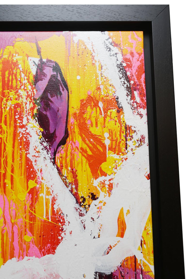 Canvas Yaounde Smoke a Cigar Painting For Sale