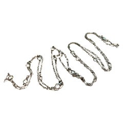 Yards of Diamonds 14 Karat White Gold Chain Necklace