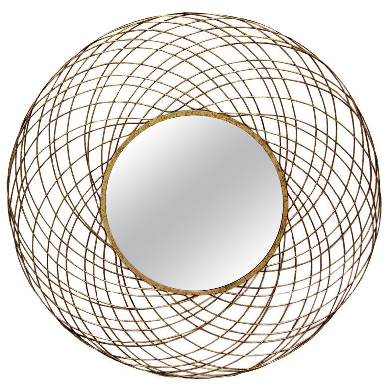 Yarnel Mirror in Gold Leaf by CuratedKravet