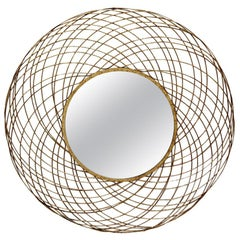 Yarnel Mirror in Gold Leaf by CuratedKravet