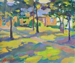 Manor - 21st Century Contemporary Oil Landscape Nature Painting