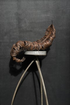 Ostrich Feather Sculpture - large scale (drapes over mantel, shelf or table)