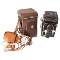 Yashica-D Camera with Case and Accessories, circa 1958