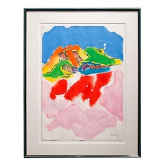 Yasse Tabuchi Signed Watercolour, 1990