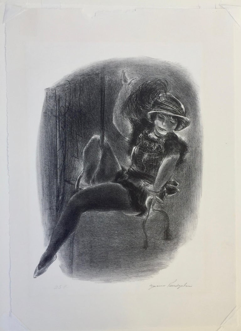 Circus Girl With Plumed Hat For Sale 1
