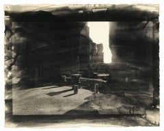 Caracallan Baths I: ancient architecture photograph w/ handwork in Rome, Italy