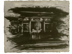 Kaminarimon Gate, Tokyo, Japan: Japanese temple urban city photograph w/handwork