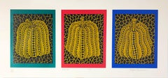 "Yayoi Kusama ""Pumpkin"" 1991; Silkscreen; 11 x 23 1/2 inches; Edition of 250"