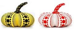 Kusama Plush Pumpkins: set of 2 (Kusama yellow & black pumpkin)