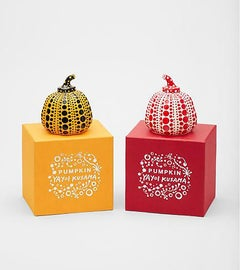 Pumpkin Cast Resin Figure - Red, Yellow