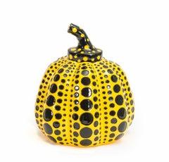 Pumpkin Object (Yellow) -- Sculpture, Dots, Multiple by Yayoi Kusama