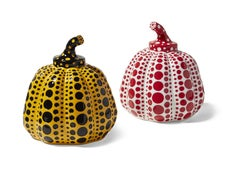 Pumpkin Objects (Pair White & Yellow) -- Sculptures, multiples by Yayoi Kusama