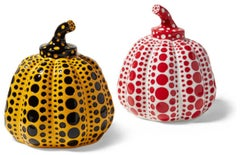 Red & Yellow Pumpkin (two sculptures)