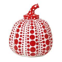 YAYOI KUSAMA - Pumpkin (White). Conceptualism, Contemporary, Modern art, Dots