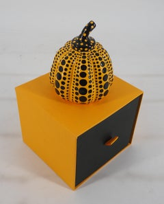 Yellow Pumpkin (Dot Obsession) - Original sculpture with original case