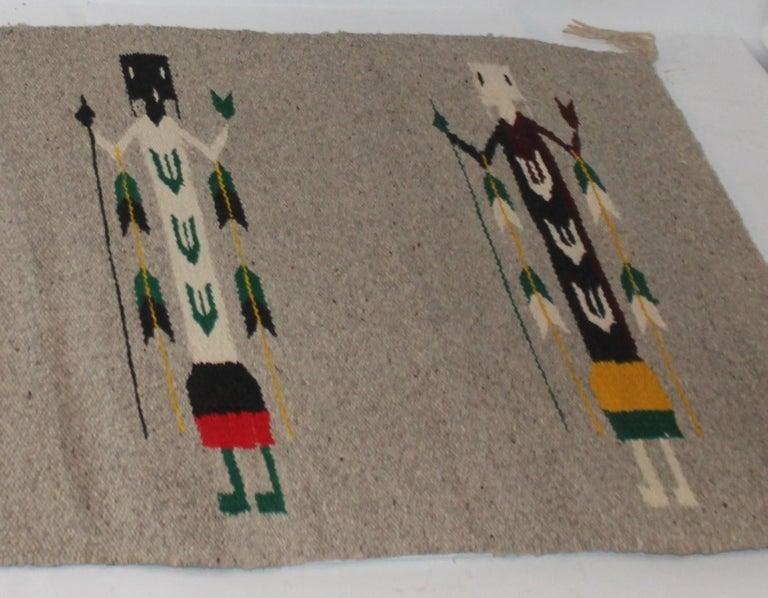 Adirondack Yei Navajo Indian Weaving For Sale