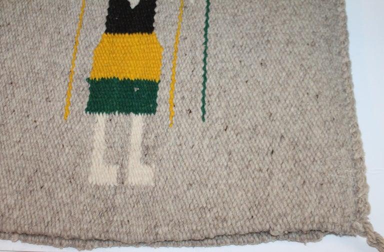 American Yei Navajo Indian Weaving For Sale