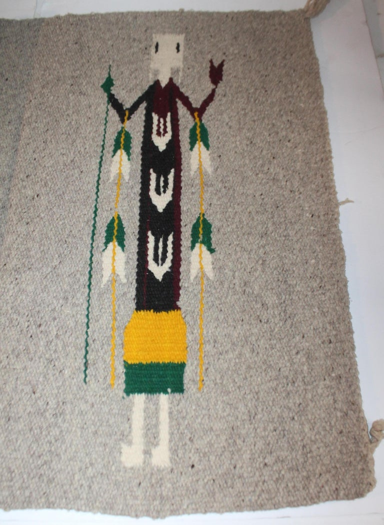 Hand-Crafted Yei Navajo Indian Weaving For Sale
