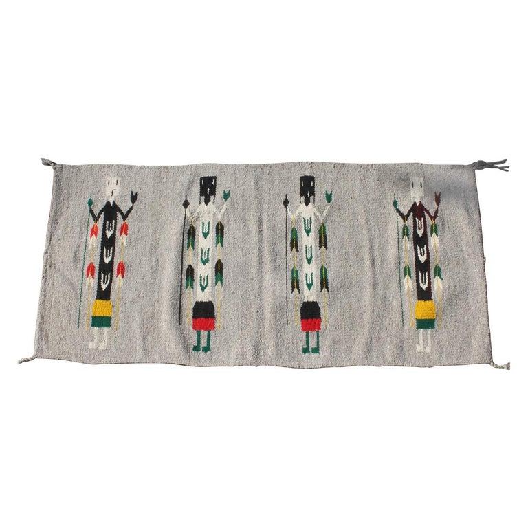 Yei Navajo Indian Weaving For Sale