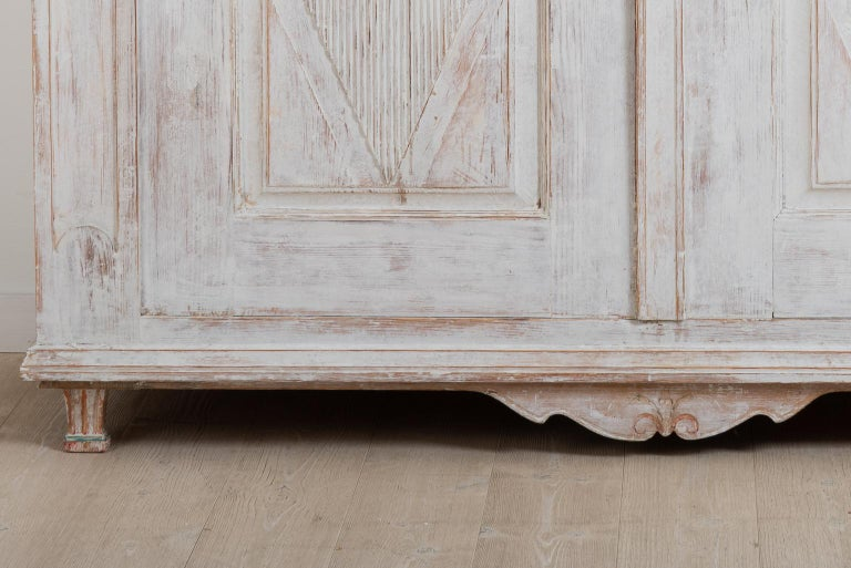 Pine Year 1800 Swedish Gustavian Sideboard from Örnsköldsvik For Sale